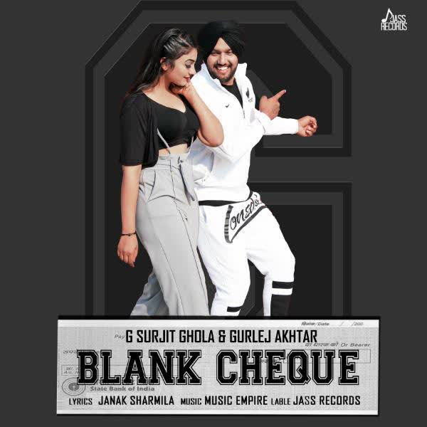 Blank Cheque G Surjit Ghola