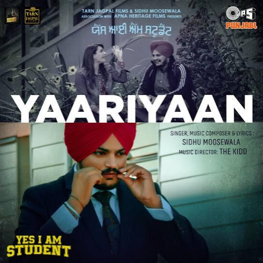 Yaariyaan Sidhu Moose Wala  Mp3 song download
